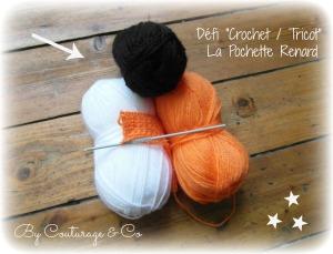 1 Defi crochet pochette renard