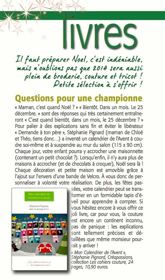 Article Marianne Maison