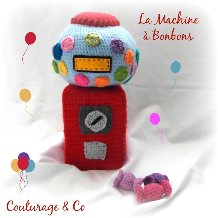 La Machine a bonbon panier marchande au crochet