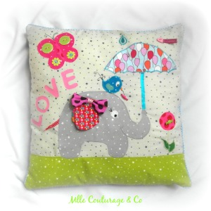 Défi Coussin 1 Mlle Couturage & Co