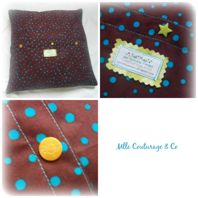 Défi Coussin 5 Mlle Couturage & Co