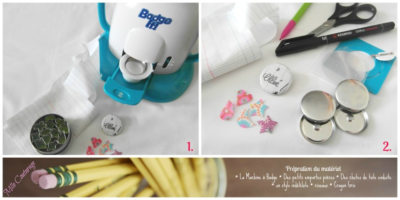 Tutoriel Badge Mlle Couturage 1 instructions