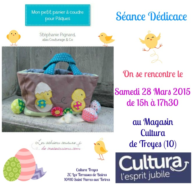 Dédicace Cultura 28 Mars 2015 Couturage & Co